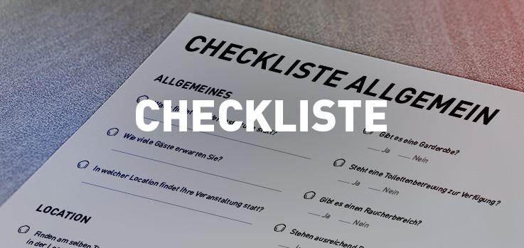 allgemeine Checkliste für Events